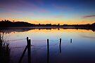 Lake at dusk by James Coard