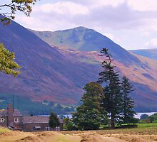 Kirckgate Farm and Crummock Water. English Lake District. by Phil Mitchell