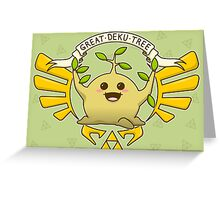 The Wise Deku Tree Greeting Card