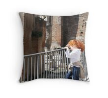a moment, a quietness, a history, a child - Rome Throw Pillow