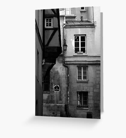 Rue des Barres Greeting Card