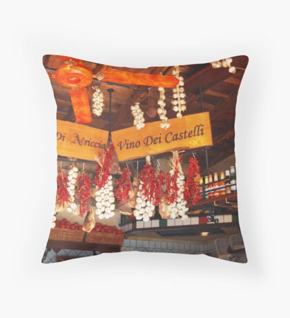 ristorante display in Rome Throw Pillow