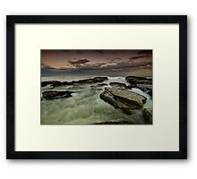 Susan Gilmore Beach at Dusk Framed Print