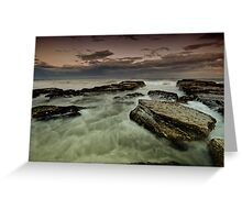 Susan Gilmore Beach at Dusk Greeting Card