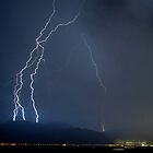 Lightning Storm over Tung Chung & Airport by HKart