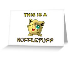 This is a hufflepuff... Greeting Card