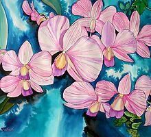 Caressing of Orchids by Nira Dabush