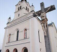 Church in Bohinjska Bistrica, Slovenia by Ian Middleton
