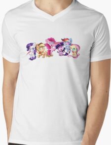 Adorable Friendship Mens V-Neck T-Shirt
