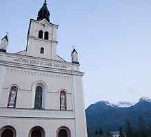 Church in Bohinjska Bistrica, Slovenia by Ian Middleton