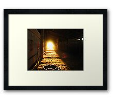 Sunlight at the end.... Framed Print