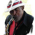 Street Musician 2 by Brad Sumner