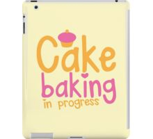 Cake baking in progress iPad Case/Skin