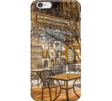 Bend Oregon Old Mill Coffee Shop in the Snowy Night iPhone Case/Skin