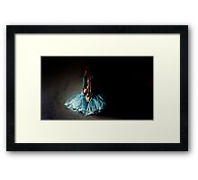 Dramatic Ballet Tutu on Old Wall Framed Print