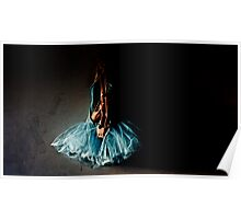 Dramatic Ballet Tutu on Old Wall Poster