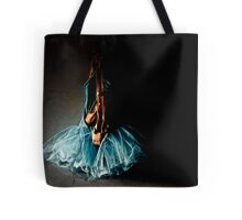 Dramatic Ballet Tutu on Old Wall Tote Bag