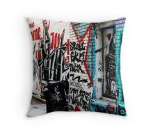 Graffiti Alley Toronto Throw Pillow
