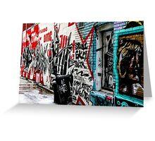 Graffiti Alley Toronto Greeting Card