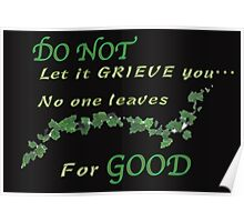 Do not let it grieve you Poster