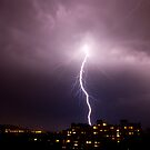 Lightning in Ljubljana, Slovenia by Ian Middleton