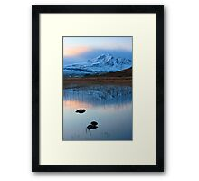 Blaven in the Gloaming, Loch Cill Chriosd, Isle of Skye. Scotland. Framed Print