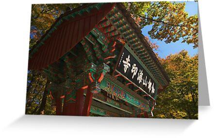 Sacred Gate - Haein Temple, South Korea by Alex Zuccarelli