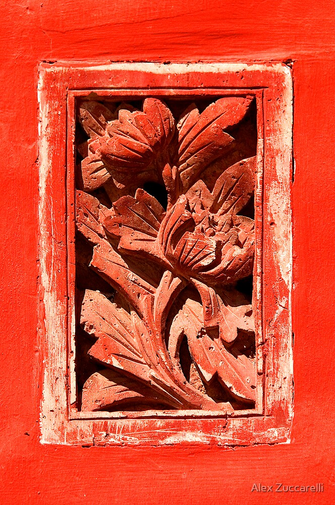 Floral Detail - The Forbidden City, China by Alex Zuccarelli