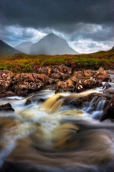 Marsco and River Sligachan, Isle of Skye, Scotland. by photosecosse /barbara jones