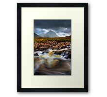 Marsco and River Sligachan, Isle of Skye, Scotland. Framed Print