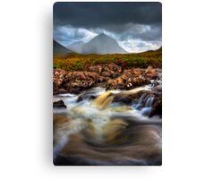 Marsco and River Sligachan, Isle of Skye, Scotland. Canvas Print