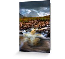 Marsco and River Sligachan, Isle of Skye, Scotland. Greeting Card