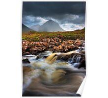 Marsco and River Sligachan, Isle of Skye, Scotland. Poster