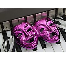 Comedy Tragedy Mask Photographic Print