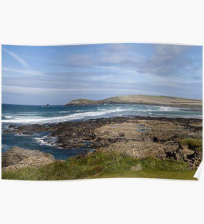 Rugged Cornish coast Poster