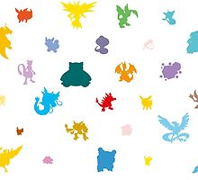 Kanto Pokémon Pattern by LucidSummations