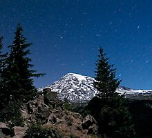 Mount Rainier by Starlight by Bryan Peterson
