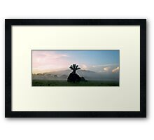 Morning in the Valley Framed Print
