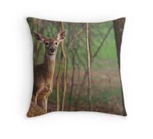 Shy Deer Throw Pillow