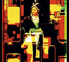 Mongolian Dancing Girl by Gene  Tewksbury