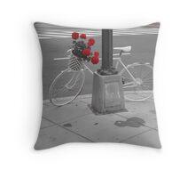 Washington DC Memorial bike Throw Pillow