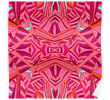 Mostly Pinks Geo Pattern Poster