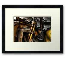 In the cab Framed Print