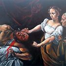 Judith Beheading Holofernes after Caravaggio by Hidemi Tada