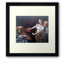 Judith Beheading Holofernes after Caravaggio Framed Print