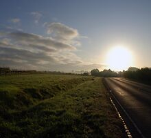 Sunrise over the road to Billingshurst by Barry Goble