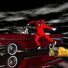 Hades Got Talent Part2b - Hades Psychic Broadcasting's Jumbrotron by Sazzart