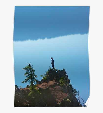 Man on Cliff Poster