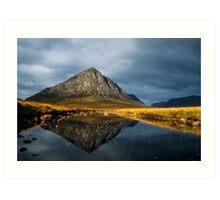 Buachaille Etive Mor, Glen Coe, Highlands of Scotland. Art Print