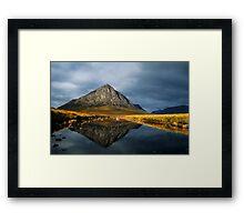 Buachaille Etive Mor, Glen Coe, Highlands of Scotland. Framed Print